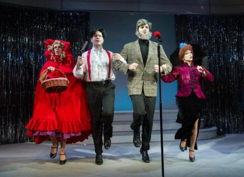 Forbidden Broadway by Gerard Alessandrini. Anna Jane Casey, Damian Humbley, Ben Lewis and Christina Bianco. Credit Alastair Muir.