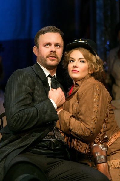 Calamity Jane - Jodie Prenger as Calamity Jane & Tom Lister as Wild  Bill Hickok. Photo credit Manuel Harlan (2)